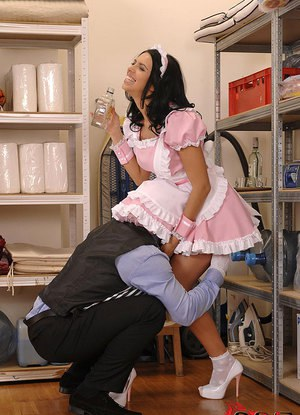 threesome with maid