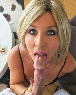 Hot housewife in a gang bang 9